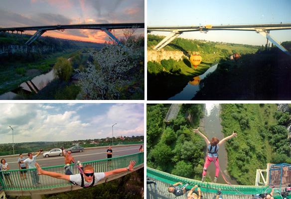 Прыжки с моста в Каменец-подольске