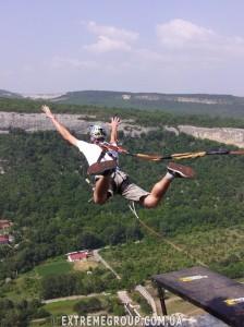 Прыжки Роуп джампинг со скалы качи-Кальон