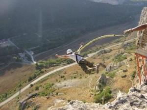 Прыжки  в Качи Кальоне Крым