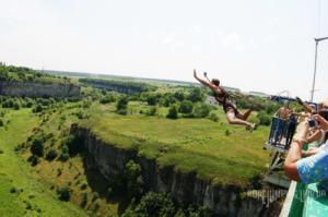 Прыжок с моста Бегущая лань в Каменец-подольке.