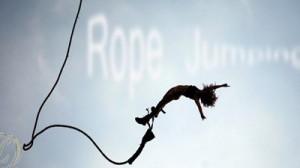 Прыжки с моста в Запорожье (Rope-jumping)